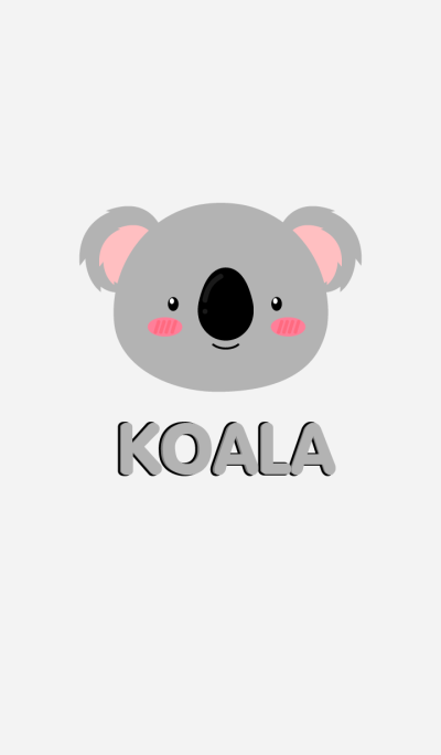 Simple Cute Face Koala Theme