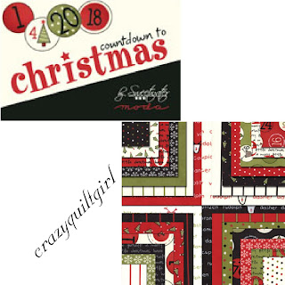 Moda COUNTDOWN TO CHRISTMAS Quilt Fabric by Sweetwater