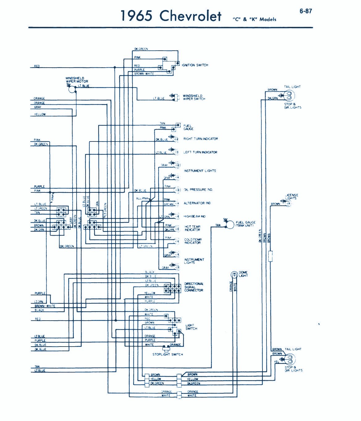 1965 Chevrolet Wiring Diagram | Auto Wiring Diagrams