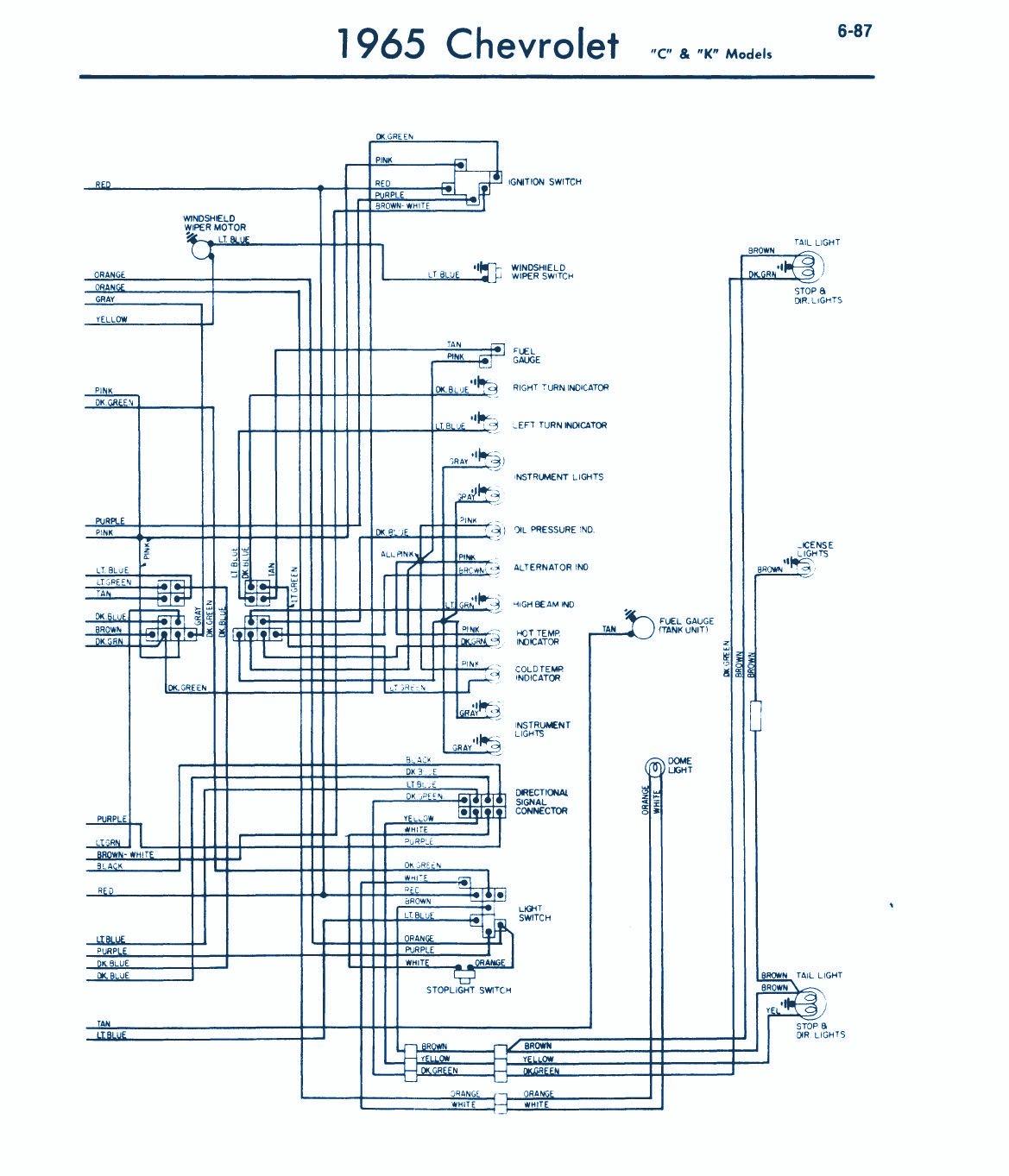 1968 impala wiring diagram lights