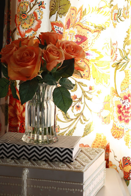 World Market floral Kavita cotton tab top curtains...