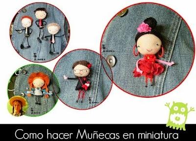 Como hacer Dolls en Miniatura. Para Llaveros o Broches
