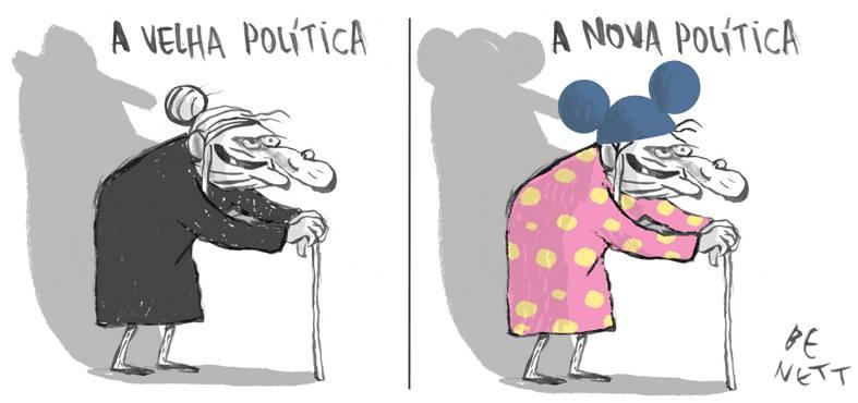Resultado de imagem para VELHA NOVA POLITICA - CHARGES