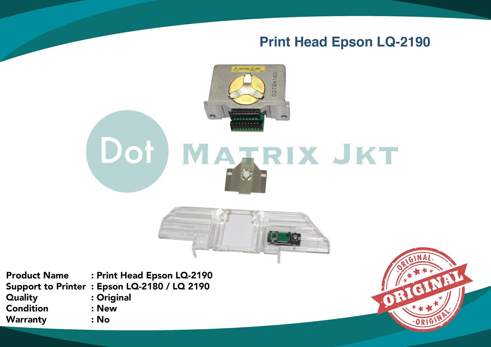 Jual Printer Dotmatrix Agustus 2018 Print Head Epson Lq2090 Lq 2090 Garansi 2190 2180 New Original