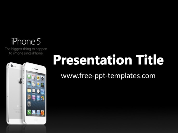 iphone ppt template, Presentation templates