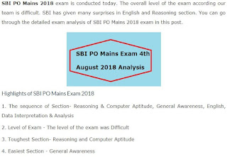 SBI PO Main Exam 2018