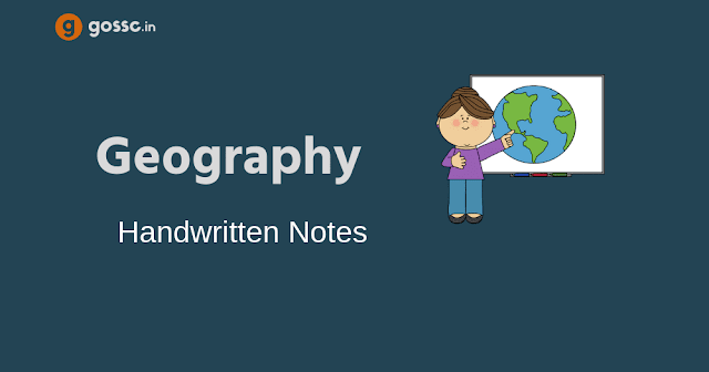 Geography Handwritten Notes