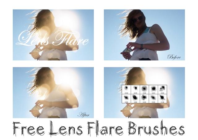 Создание бликов солнца в Фотошопе. Бесплатные кисти