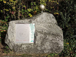 Representation of Jupiter, to scale, along the Path of the Planets on the Uetliberg, Zürich, Switzerland