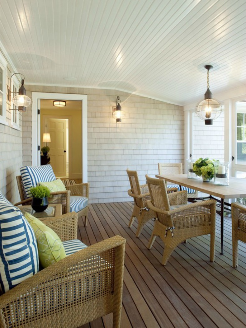 coastal outdoor dining room