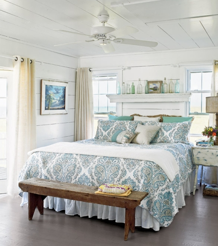distressed cottage look for bedroom