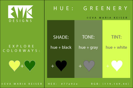 Eva maria keiser designs pantone color of the year 2017 for Pantone 2017 greenery