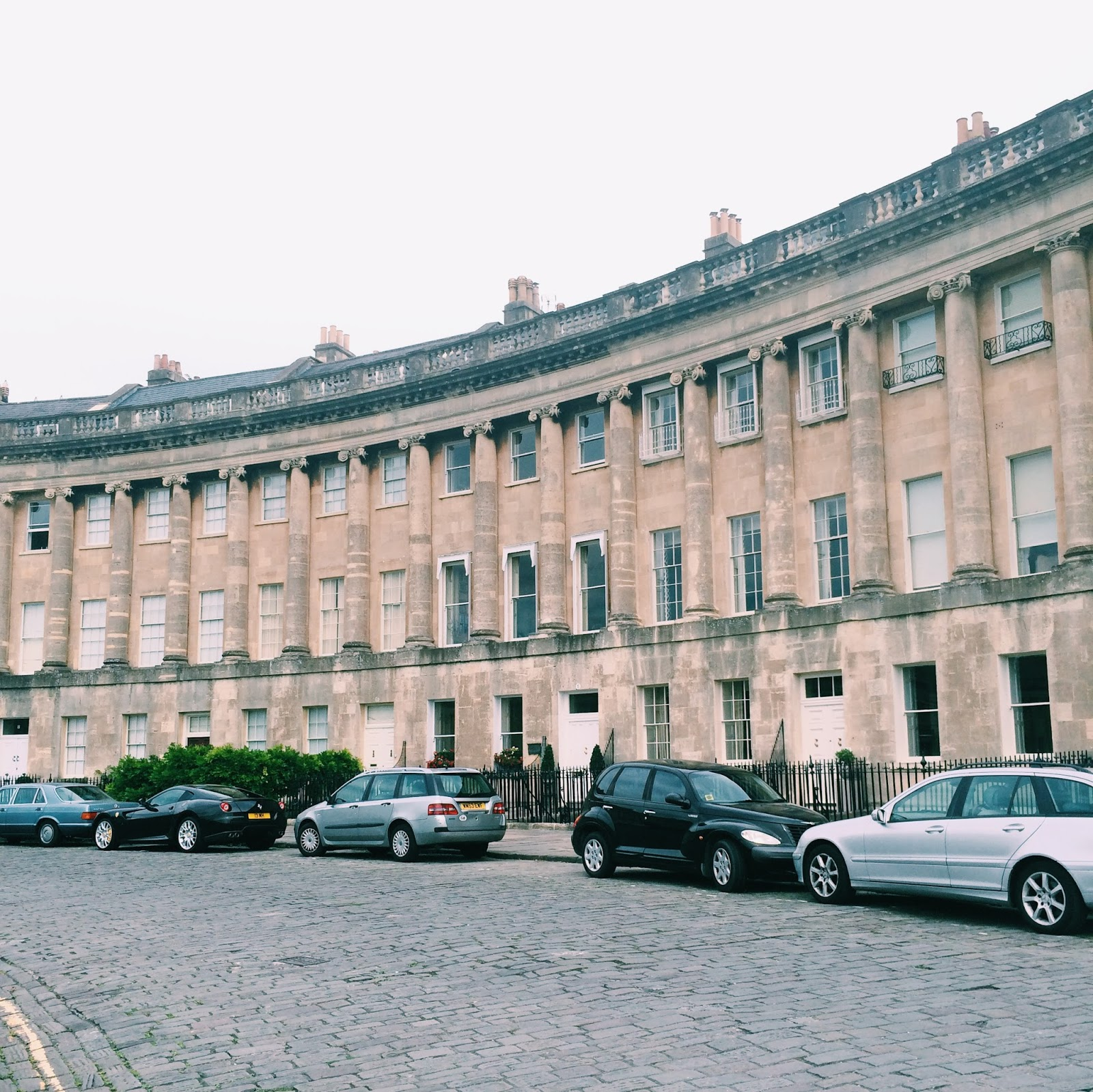 Royal Crescent apartments in Bath, England