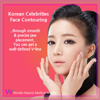 korean celebrities face contouring