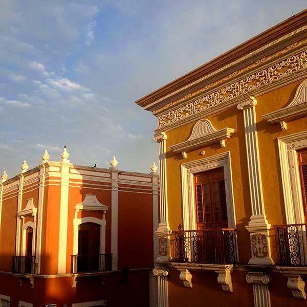 Amanecer en el centro de Campeche, Yucatán