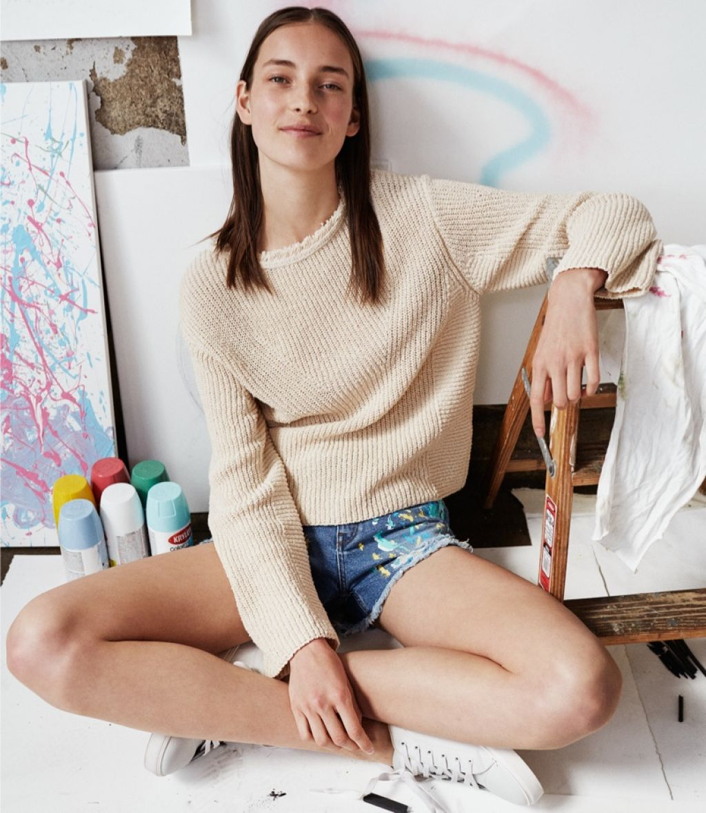 Mango Fall 2015 Lookbook featuring Julia Bergshoeff