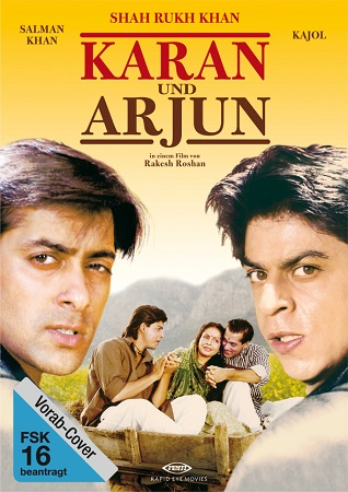 Poster Of KKaran Arjun 1995 Hindi 720p DVDRip Free Download Watch Online