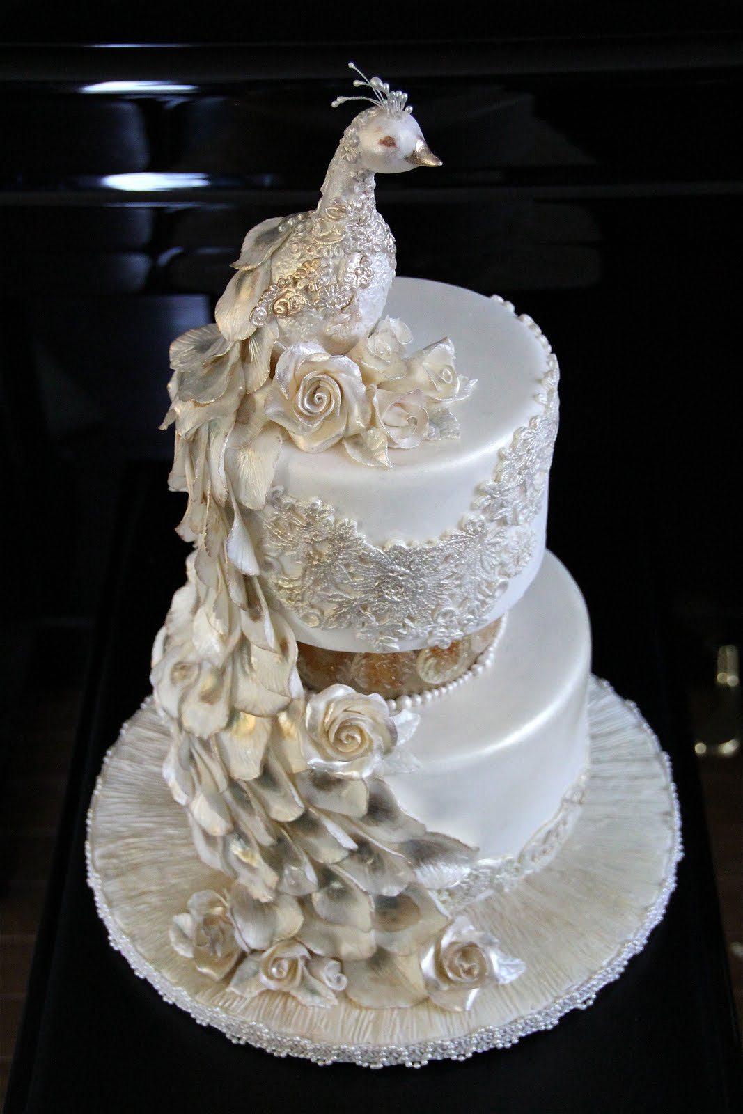 Decorate The Cake Pearl Peacock Wedding Cake Featuring