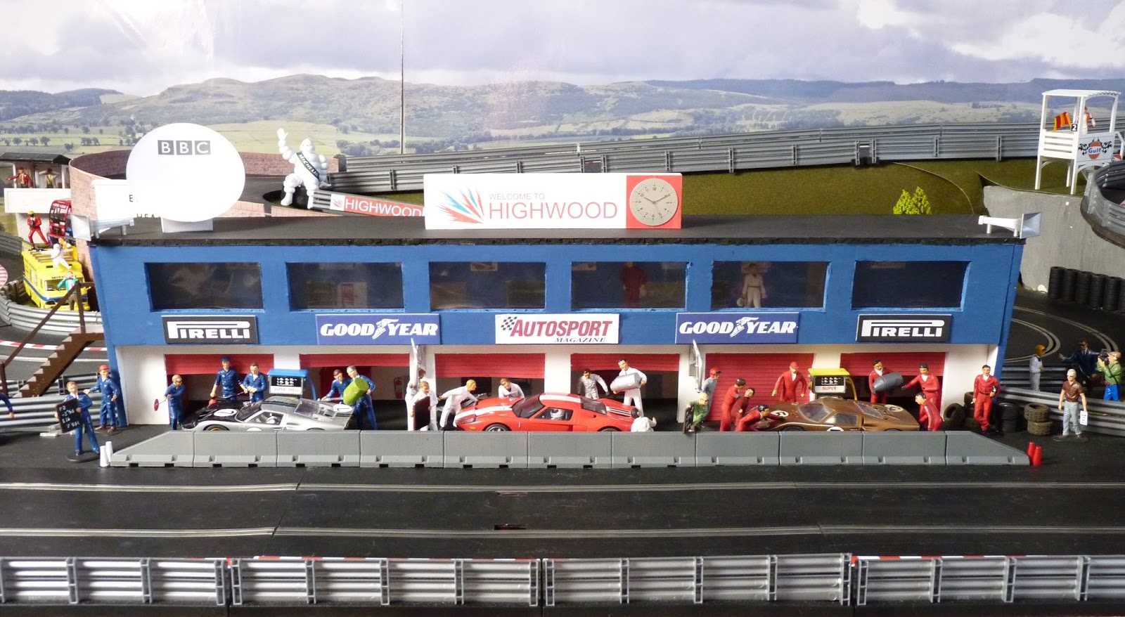 My Scalextric Brooklands Inspired Pit Buildings And