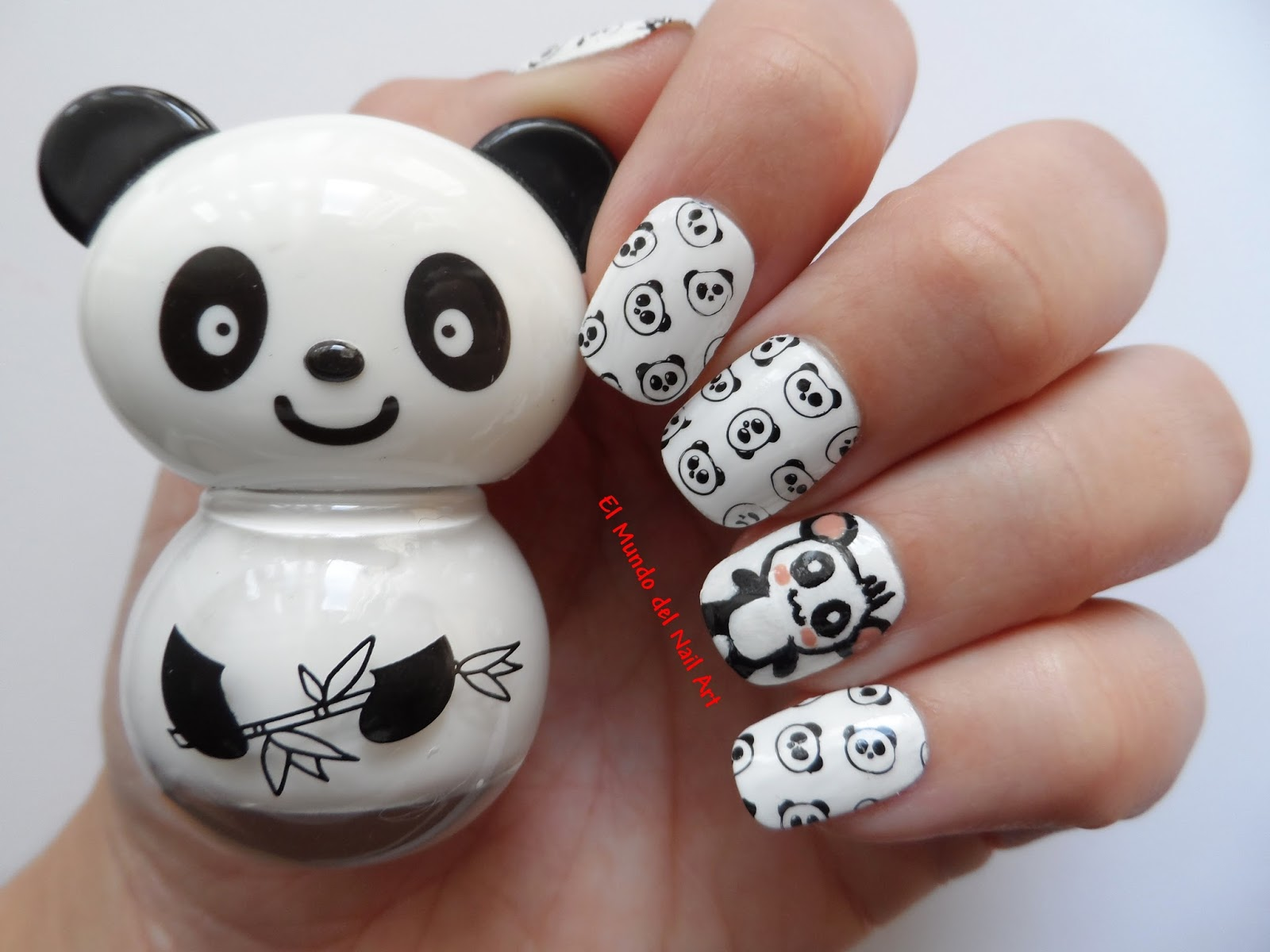 El Mundo Del Nail Art: Manicura De Oso Panda Kawaii