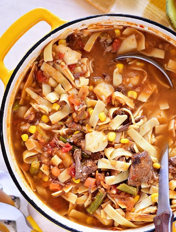 The Best My Mom's Old-Fashioned Vegetable Beef Soup