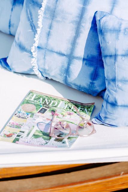 Heute mach ich blau.... Wohnfarbe Blau, Shibori, Pomponetti