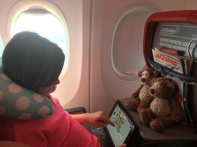 girl on an aeroplane