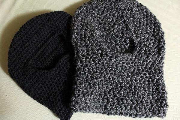 ninja mask, balaclava, crochet, finished project