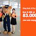 Jetstar khuyến mãi vé rẻ CHỈ 83.000 đồng cho các chặng bay từ Việt Nam đi Singapore