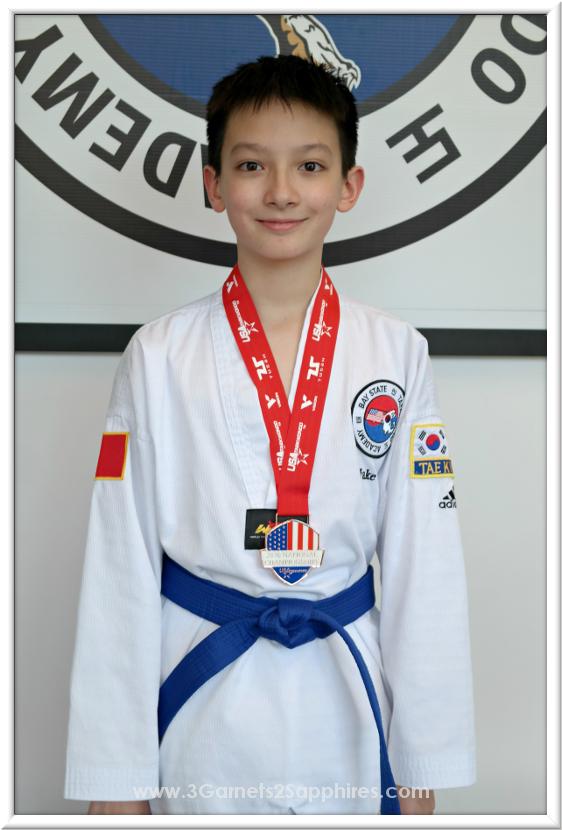 Bronze Medalist at 2016 National Taekwondo Championships | 3 Garnets & 2 Sapphires