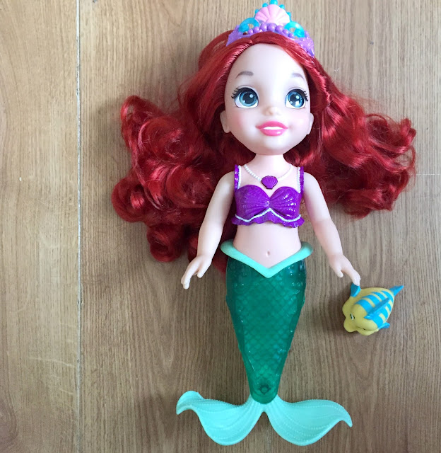 colours of the sea ariel doll