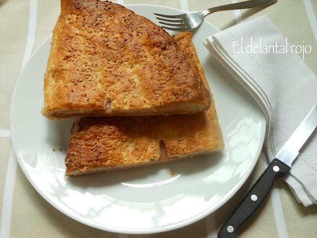 Empanada de paté y jamón york.- Para principiantes
