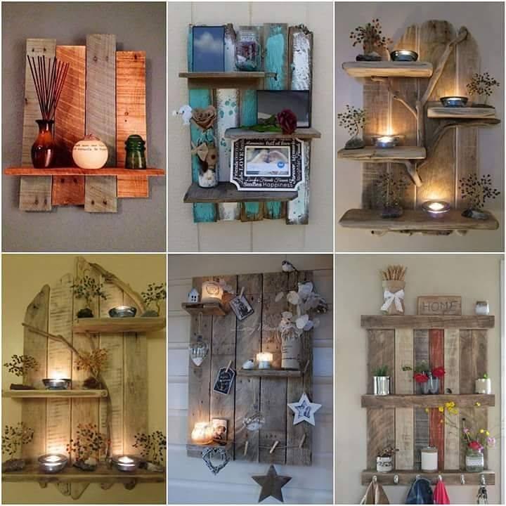 Decoraciones para pared con palets de madera reciclados construccion y manualidades hazlo tu - Palets para decoracion ...