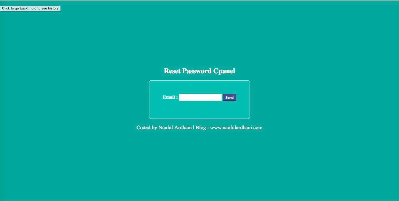 Tutorial Reset Password Cpanel Dengan Tools dan Shell Backdoor