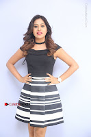 Actress Mi Rathod Pos Black Short Dress at Howrah Bridge Movie Press Meet  0064.JPG