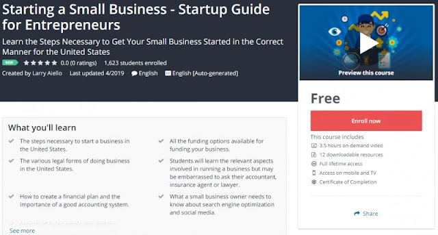 [100% Free] Starting a Small Business - Startup Guide for Entrepreneurs