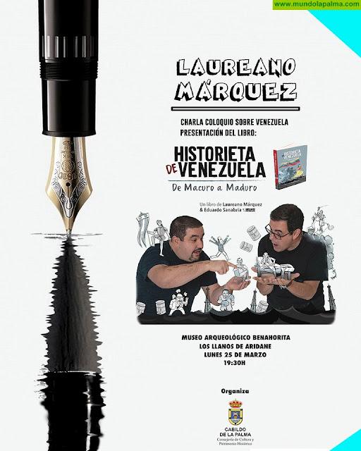 El humorista y politólogo Laureano Márquez presenta en La Palma su libro 'Historieta de Venezuela: de Macuro a Maduro'
