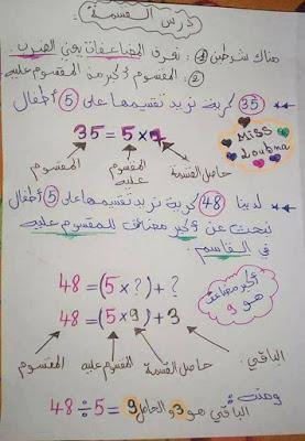 شرح مفصل لدرس القسمة السنة الرابعة ابتدائي الجيل الثاني