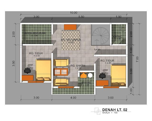 Update Desain Denah Rumah Minimalis Ukuran 6 X 8 Meter Full Woods