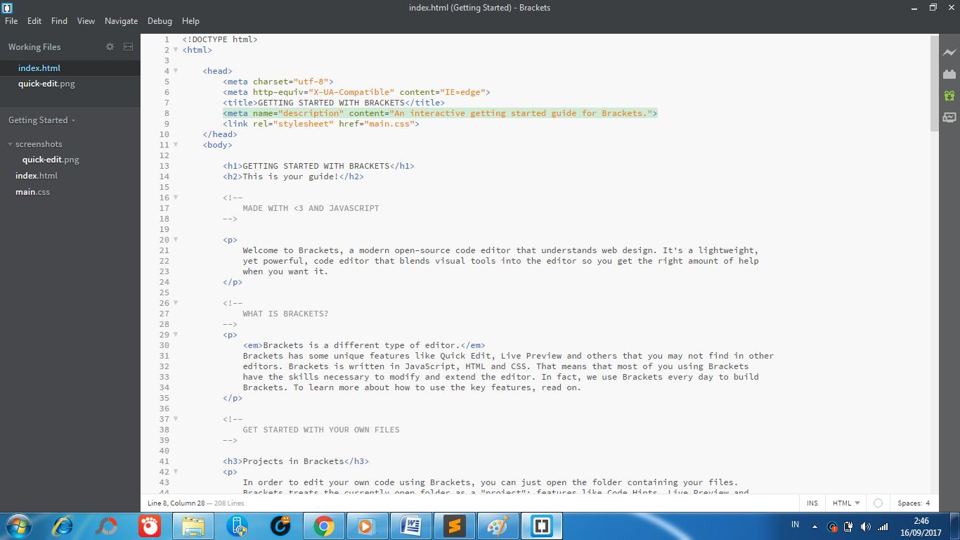 aplikasi text editor brackets