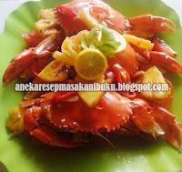 Resep masak kepiting, kuliner masakan kepiting, kepiting buah, nenas dalam kepiting