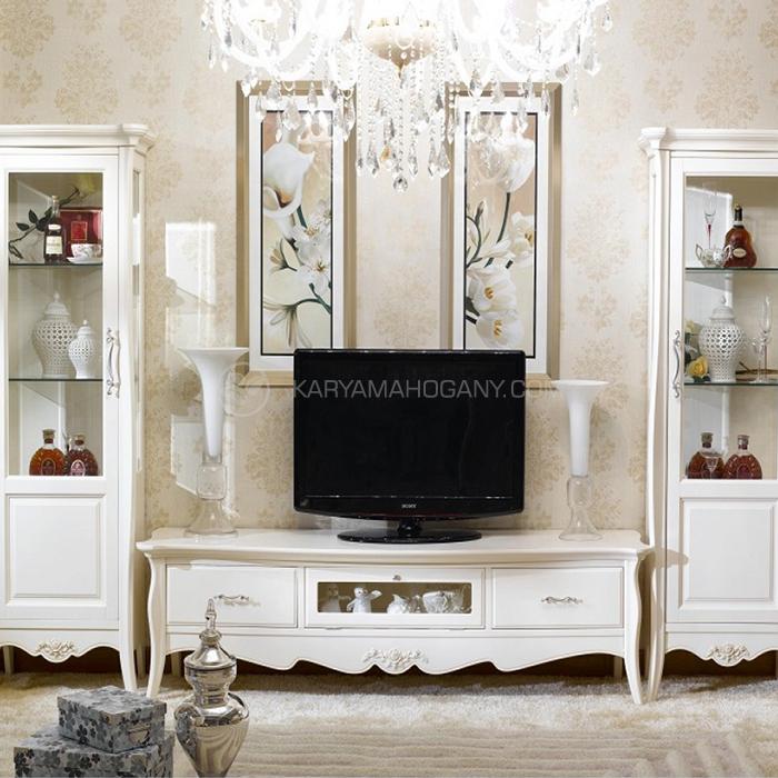 Buffet Tv Minimalis Modern Putih