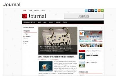 blogger テンプレート Journal