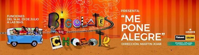 """BIGOLATES DE CHOCOTE Presenta su espectáculo """"Me pone Alegre"""" en Paseo La Plaza"""