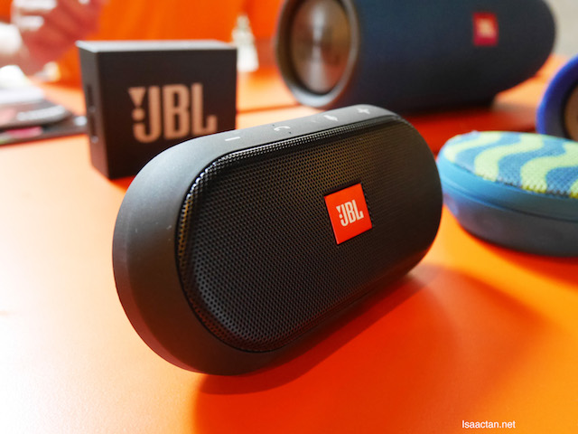 Sweet looking JBL speakers were on display during the event