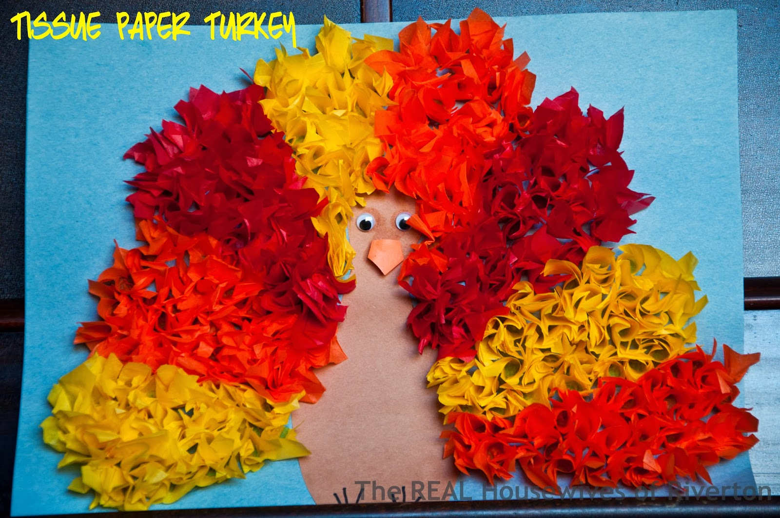 Tissue Paper Turkey Kid S Craft Housewives Of Riverton