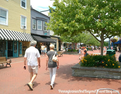 Shopping at the Washington Street Mall in Cape May, New Jersey