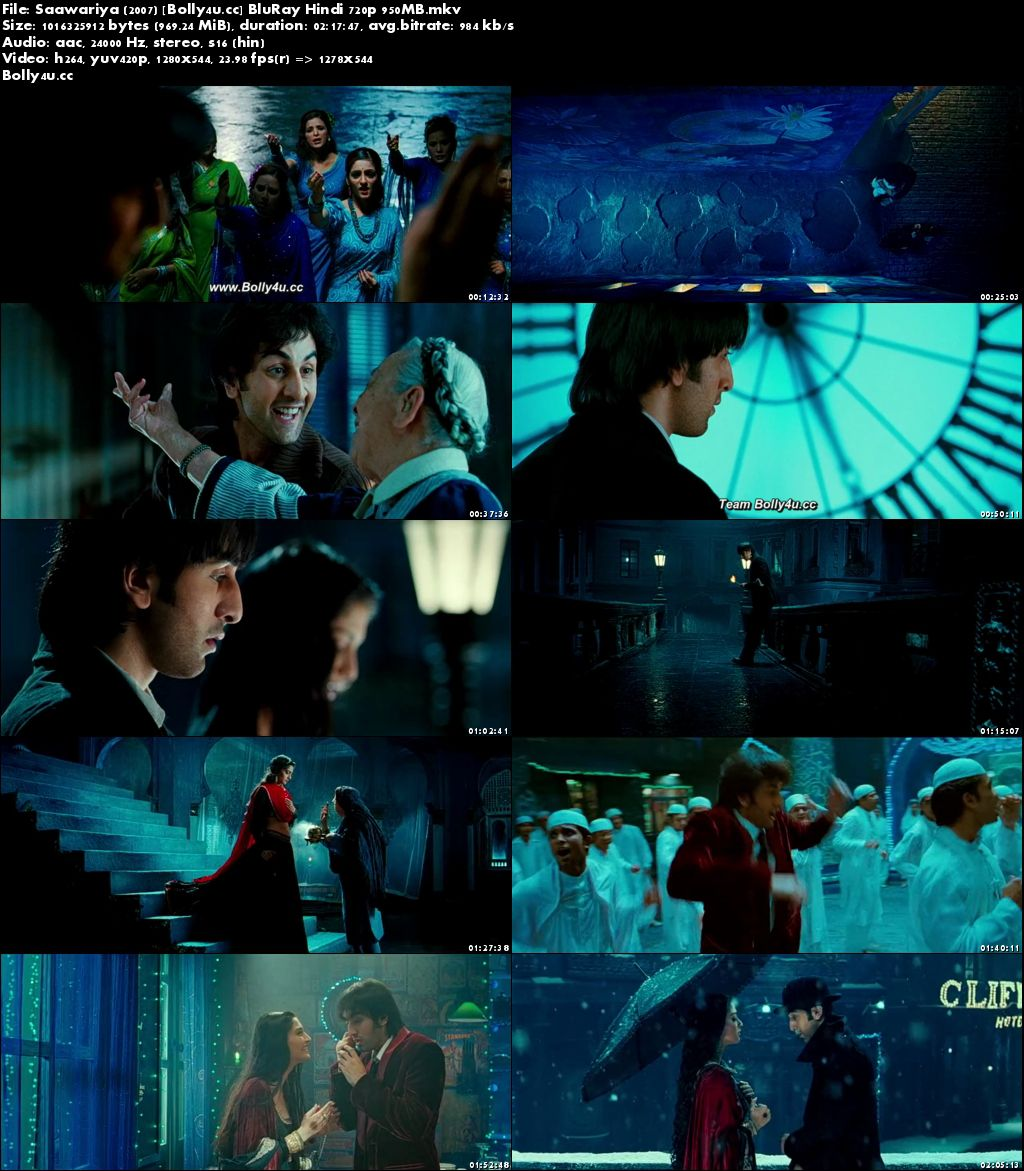 Saawariya 2007 BluRay 400MB Full Hindi Movie Download 480p