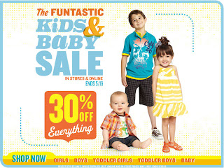 219b7f9db3b You can save 30% off all Kids and Baby apparel at Old Navy during their   The Funtastic Kids   Baby Sale . This sale is available in-stores and  online until ...