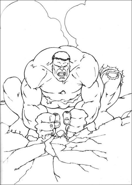 Hulk - Avengers Coloring Pages >> Disney Coloring Pages